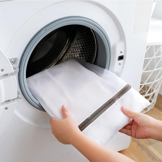 Sacs à linge en Nylon blanc   Sac à linge, soutien-gorge, chaussettes, sous-vêtements, Protection de la Machine à laver, sacs à linge, panier à linge, panier à linge