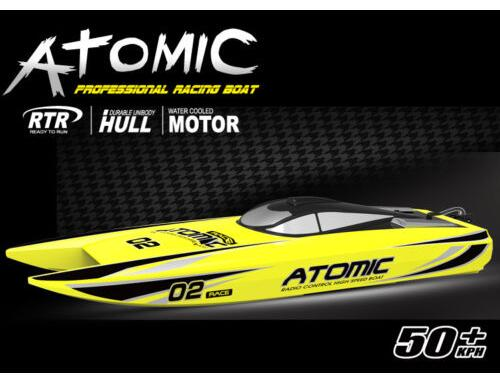 Volantex ABS Hull Atomic RC RTR Model Boat W/ Brushless Motor Servos ESC Baterry h625 pnp spike fiber glass electric racing speed boat deep vee rc boat w 3350kv brushless motor 90a esc servo green