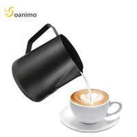 Soanimo 1pc Milk Frother Stainless Steel Milk Frothing Jugs Coffee Bubble Foam Pitcher Cup Coffee Pull