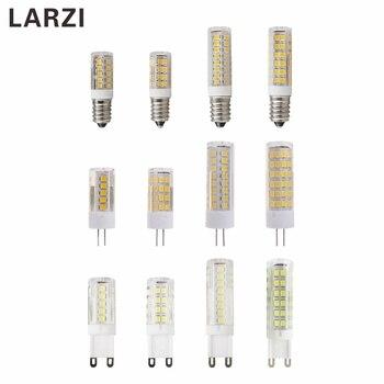 цена на LARZI G9 LED Lamp G4 Light 3W 4W 5W 7W SMD 2835 E14 220V 230V 240V Ceramic LED Light Bulb replace Halogen G9 for Chandelier