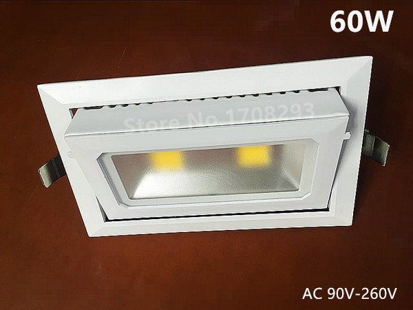 40W60W Rotatable Rectangle LED COB Downlights Adjustable 90degree Die-cast aluminum white flood lamp Replace R7S halogen lamp ip67 die cast aluminum alloy module ac100v 110v 220v 200w led high mast tunnel stadium flood light fixture