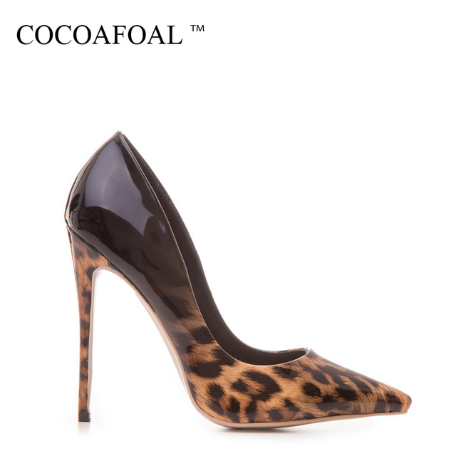 COCOAFOAL Woman Leopard Pumps Plus Size 33 - 43 Fashion Sexy Stiletto Party Wedding Pumps Autumn 12 CM Ultra High Heels Shoes 2