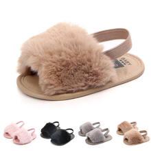 0a508184fb004 Mode enfant en bas âge bébé fille été nouveau-né semelle souple filles  pompon anti-dérapant tongs plat enfants sandales chaussur.