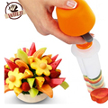 Creative Kitchen Accessories Cooking Tools Plastic Fruit Shape Cutter Slicer Decorator Smoothie Cake Tools Kitchen Bar Supplies