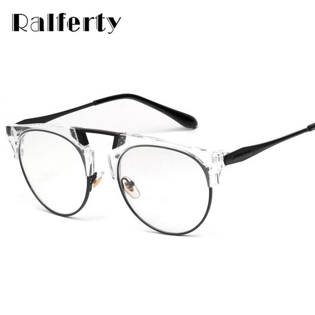 36ff3bea9 Ralferty 2018 شفافة نظارات إطار واضح مع عدسة أنيق الديوبتر قصر النظر وصفة  طبية البصرية إطارات