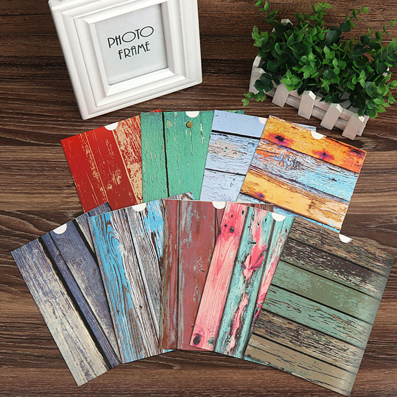 Image 5 - Photo Frame Wall Creative Wood Grain Paper Hanging Album Combination DIY Art Ornament Living Room Decoration Porta Retrato-in Frame from Home & Garden