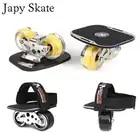 Japy Skate Klassische Aggressive Drift Bord Silber Aluminium Kostenloser Linie Skates Peeling Patines Antislip Skateboard Deck 82A Räder