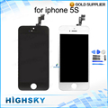Full tested For iPhone 5S LCD Display + Touch Screen Digitizer Glass Assembly No Dead Pixels Spot Stripes 1 piece free shipping