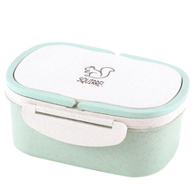 School Lunch Box For Kids Japanese Bento Boxes Wheat Straw Box For Food Meal Prep Lunch Box Containers With Compartments
