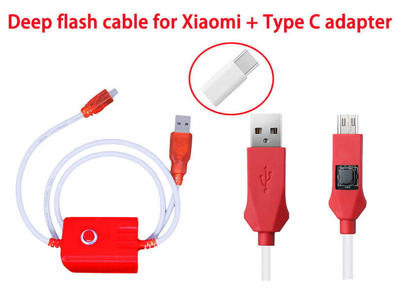 Oityn adaptateur Gratuit + profond câble flash pour Xiaomi Redmi téléphone port Ouvert 9008 Prend En Charge tous les BL serrures EDL câble + NUMÉRO de piste.