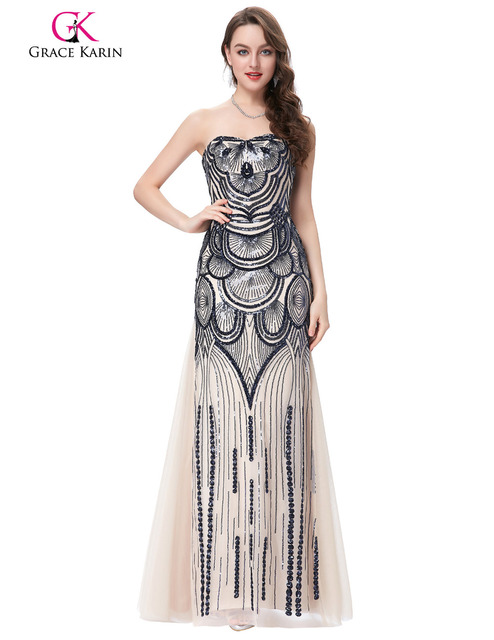 Fast Delivery Evening Dresses Long Women Sequins Robe De Soiree ...