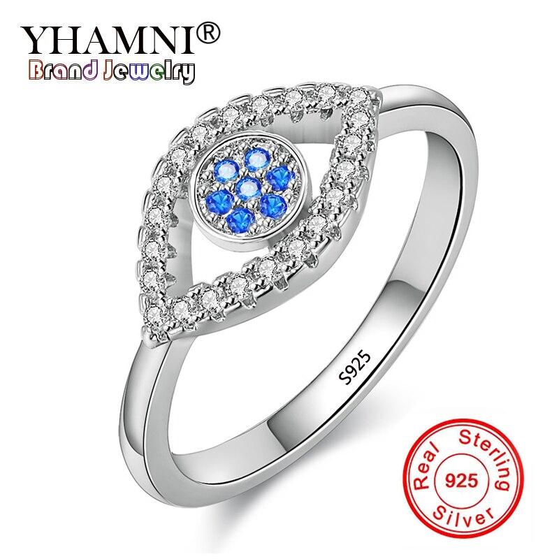 YHAMNI Fashion Charm Eye Ring 100% 925 Sterling Silver