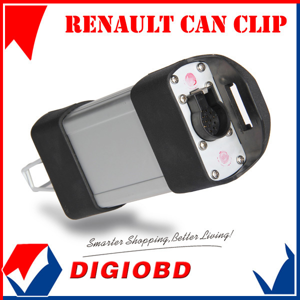 2013 Factory Price Latest Version V131 Renault Clip Auto Diagnostic tool 19 Langauges Renault Can Clip V131 Free Shipping