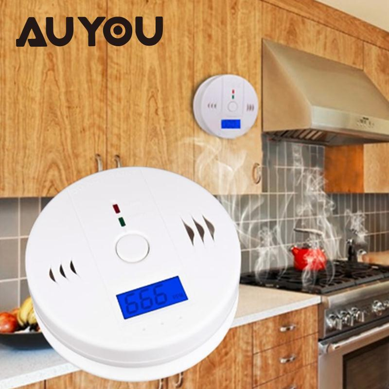 AUYOU CO Gas Sensor Carbon Monoxide Poisoning Alarm Home LCD CO Carbon Monoxide Poisoning Sensor Alarm Warning Detector Tester