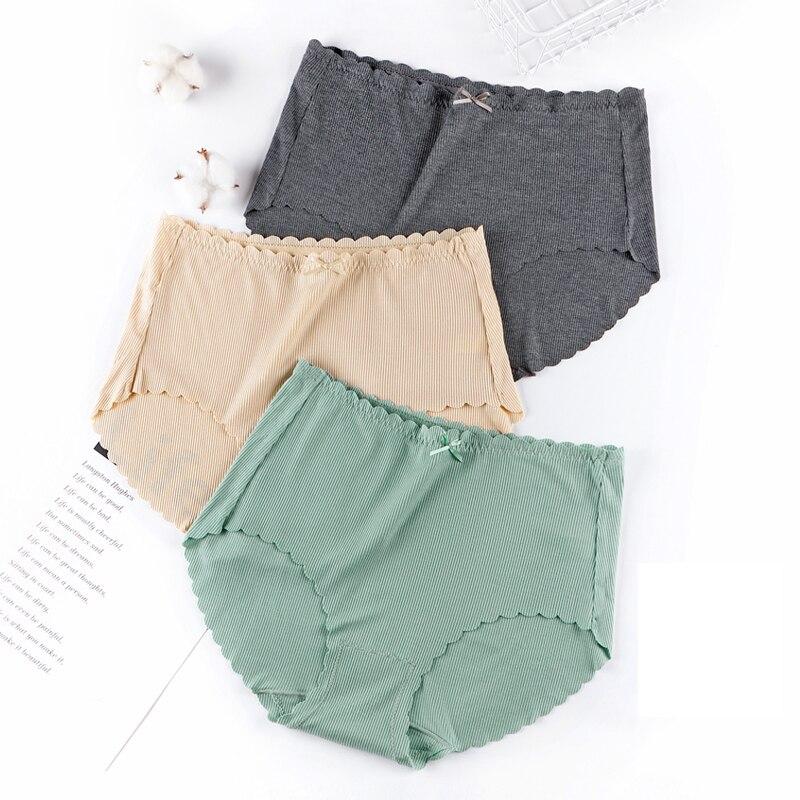 Women's Cotton Briefs Ultra-thin Modal High Waist Seamless   Panties   Large Sizes Sexy Bow Cotton   Panties   Plus Size Underwear