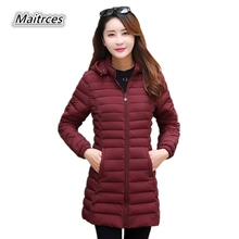 2018 Rushed Sale Solid Full Winter Jacket Women Cotton Parkas Ladies Large Size Loose Warm Fashion Female Hooded Coats Mf009