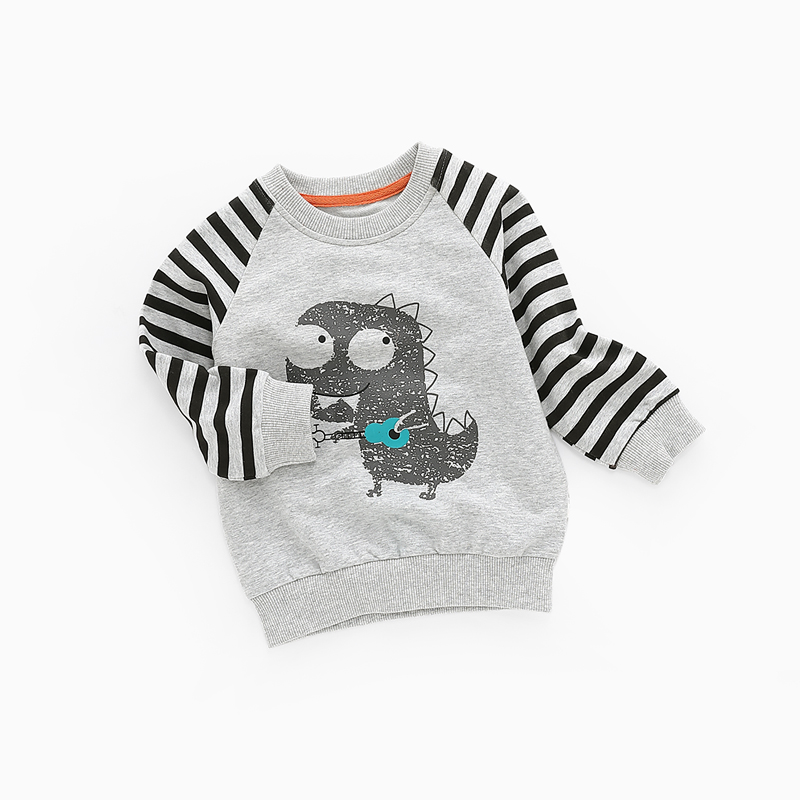 Maggie's Walker Children Boys Cartoon Striped Pullover Baby Kids Long Sleeved Autumn Clothing Sweaters Boys New Year's Products