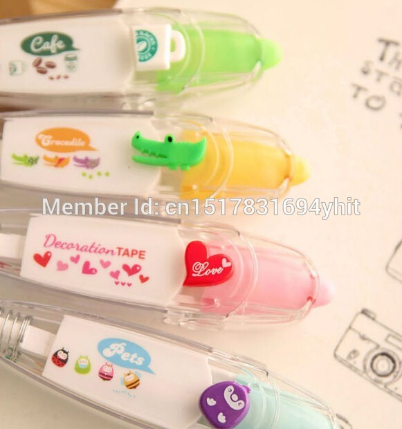 Korea-Stationary-Sweet-Floral-Correction-Tape-Pen-Sticker-Kids-Students-Decorative-Masking-Tapes-Adesivos-Label-Tape-Stickers-3