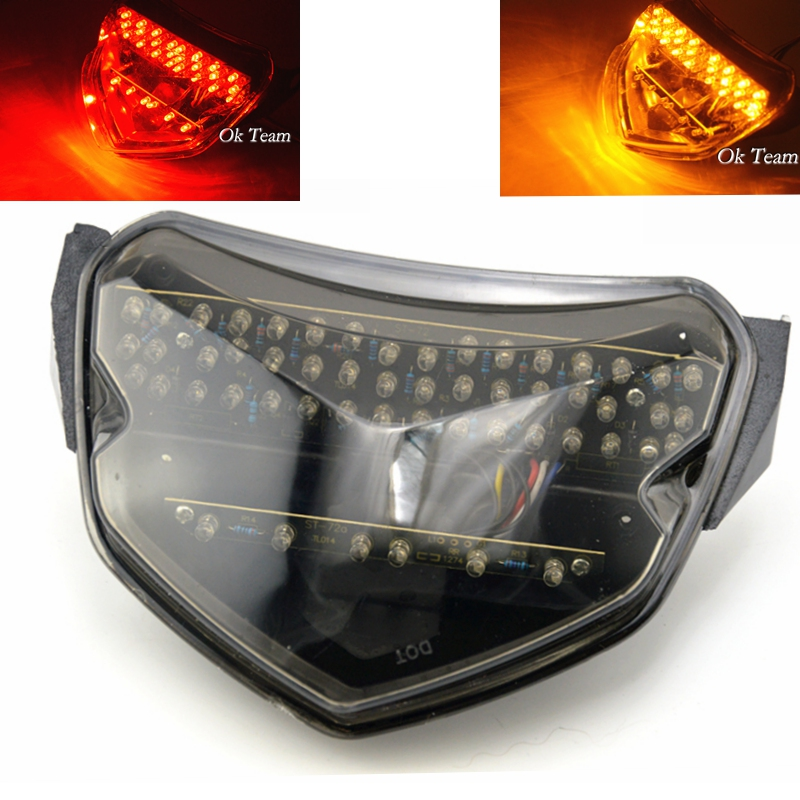 Motorcycle LED Tail <font><b>Light</b></font> With Turn Signals for <font><b>GSXR</b></font> <font><b>600</b></font> 750 K4 2004-2005 motorcycle turn <font><b>lights</b></font> image