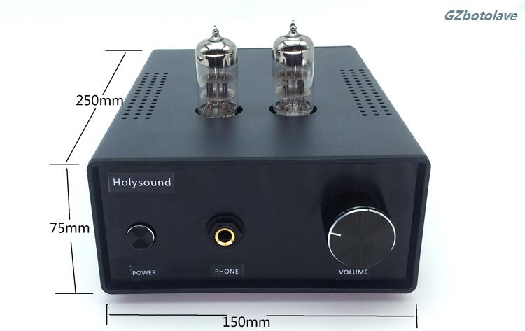HIFI 6H3n tube headphone preamplifier with headset protection design compatible high and low resistance headpone