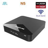 Magicsee N5 Android 7.1 TV BOX Amlogic S905X Quad core 4K Resolution 2GB RAM 16GB ROM 2.4G 5G WiFi Set Top Box