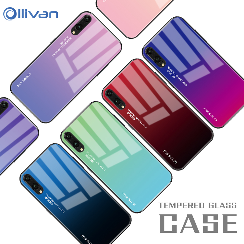 Gradient Tempered Glass Phone Case For Huawei Mate 20 Lite Honor 8X Mate 20 Pro Mate 10 P20 Lite P Smart Plus Nova 3i 3 3e Cover