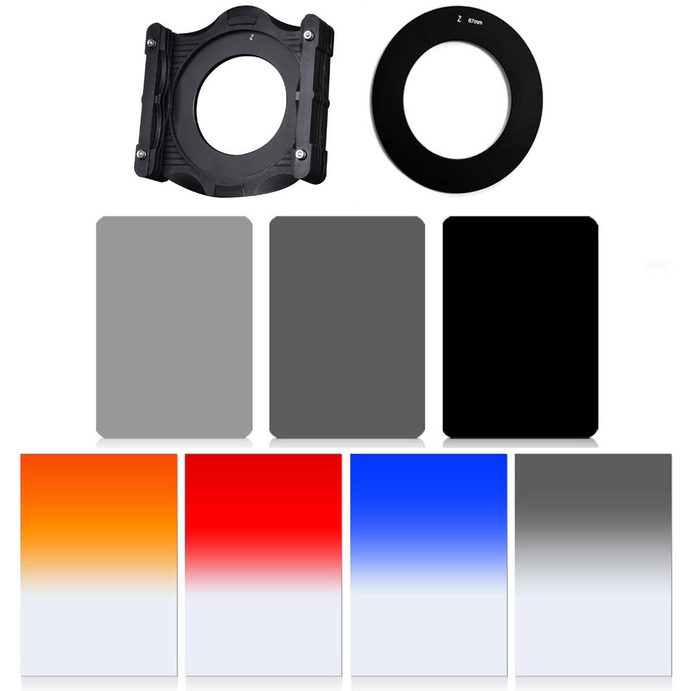 ZOMEI150 * 100mm carré résine optique GND & ND2 + 4 + 8 kit de filtre adaptateur pour Cokin z-pro LEE