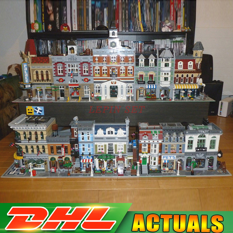 New DHL Lepin City Street 15001 15002 15003 15004 15005 15006 15007 15008 15009 15010 15011 16050 Buillding Blocks Bricks Model a toy a dream lepin 15008 2462pcs city street creator green grocer model building kits blocks bricks compatible 10185
