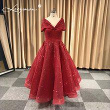 09a49b3f14c8 2018 Vestidos Abiti Da Sera Rosso Scuro Turco Arabo Dubai Spumanti Prom  Dresses Abiti Caftano Glitter