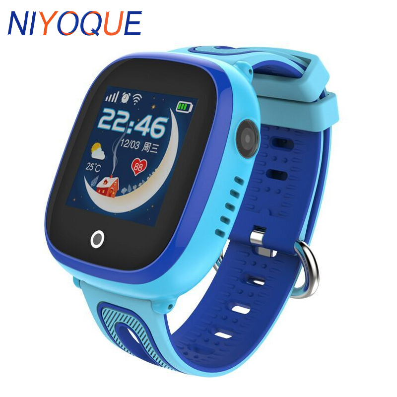 Kids GPS Smart Horloge DF31G met GPS/GSM/Triple Positionering GPRS Real time Monitoring, dual weg Gesprek, SOS Kinderen GPS Smart Horloge-in Smart watches van Consumentenelektronica op  Groep 1