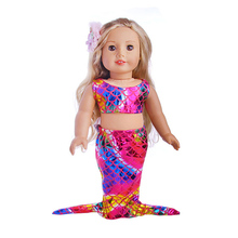 18-inch Doll Mermaid Tail Outfit-cute Clothes for My Little Baby 18/43-46 cm life/baby doll Toy Accessories fit girl gift