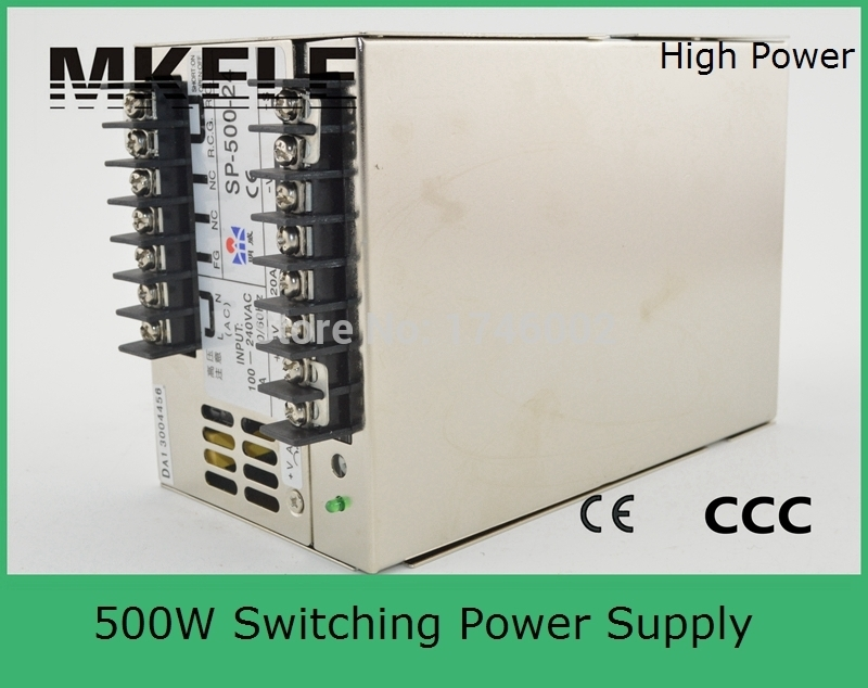 Free Shipping SP series  40A 500w (SP-500-12) 12V PFC switching power supply 85-264VAC input 500W 12v PFC power supply