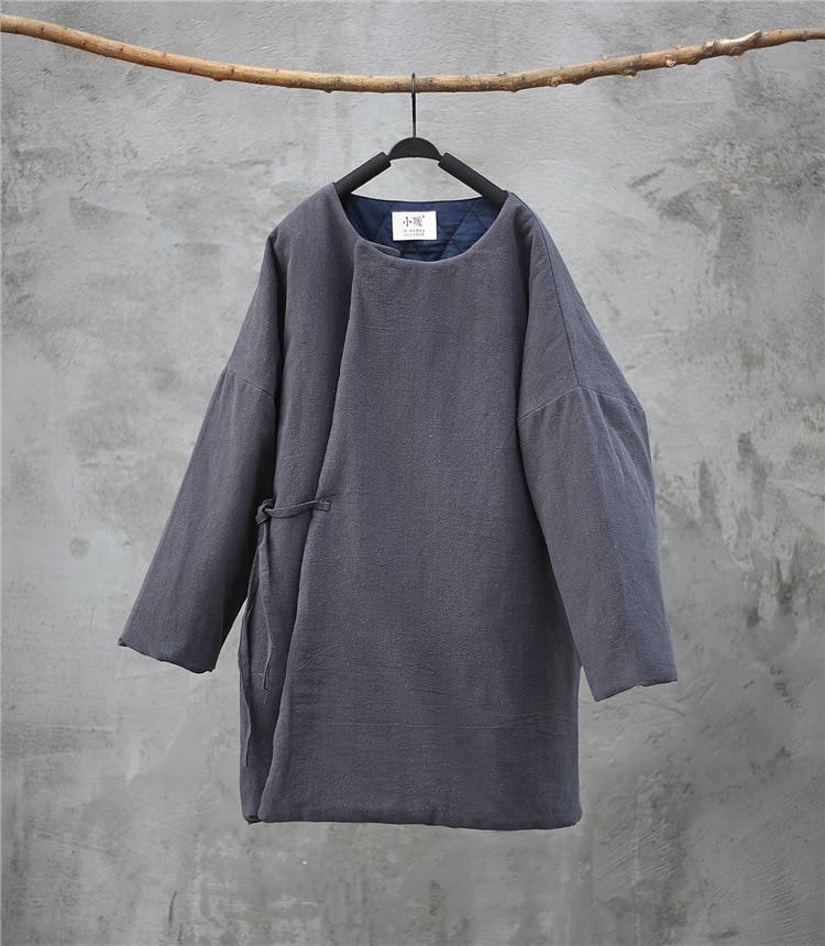 Chaud Beige De Couleur Rétro 2018 Coton Parkas Femmes Lâche Femme Toile Bouton Survêtement Rembourré gris bourgogne Couvert Solide Hiver Manteau Dames U1paq5