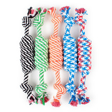 Pet Supplies 24cm Long Harness Dog Toys Knot Cotton Rope Puppy Chew Funny Bite Molar Tooth Cleaning Tools