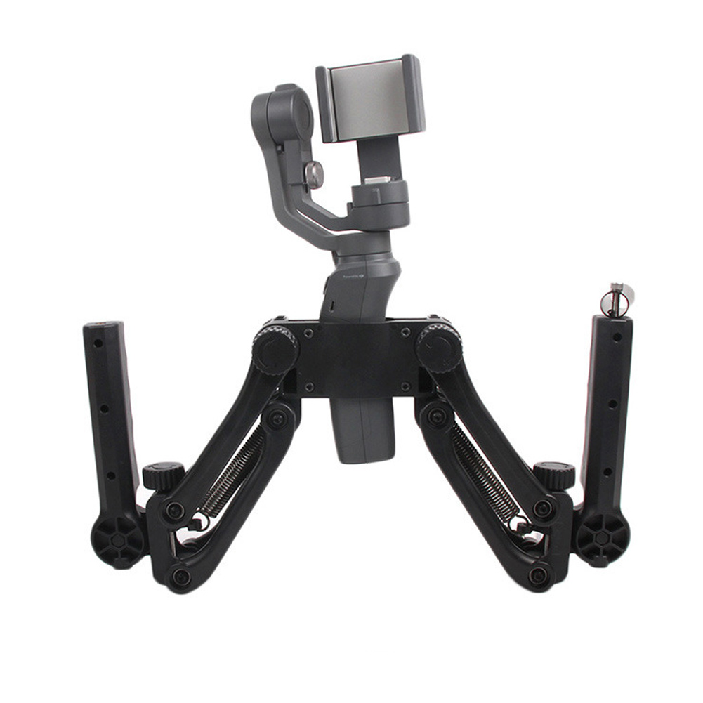 Double poignée poignée support de montage support d'extension support stabilisateur pour OSMO/OSMO Mobile/OSMO Mobile 2/Ronin S
