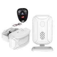 Remote Wireless PIR Motion Sensor Detector Door Bell Gate Entry Welcome Chime Doorbell Burglar Alarm for Home Shop Store