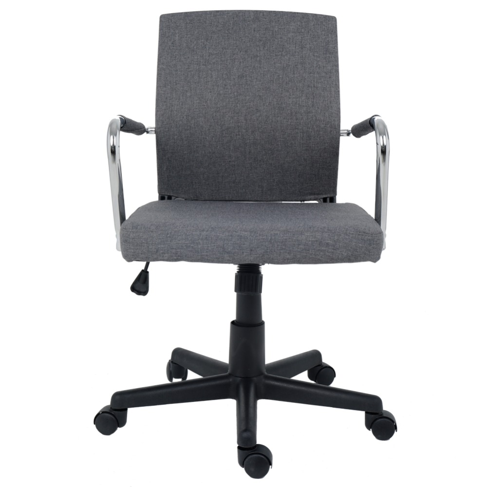 Minimalist Desk Chair Us 99 99 Wahson Grey Fabric Swivel Office Chair Minimalist Mid Back Adjustable Computer Desk Chair Task Chair By Wahson In Office Chairs From