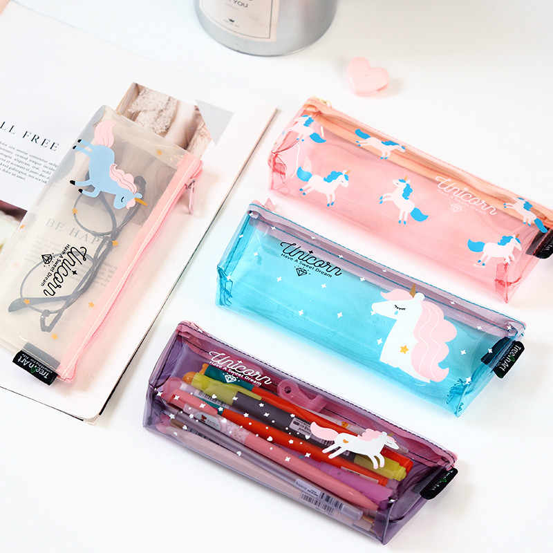 Hot Sale 1pcs Fly Horse Pencil Case Quality School Supplies Stationery Gift Pencilcase School Cute Pencil Box School Tools
