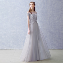 Elegant Long Bridesmaid Dresses Appliques Lace beading lace-up style Wedding Party Dress Under 50$