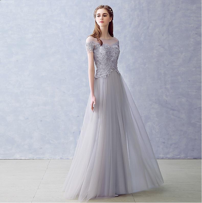 Elegant Long Bridesmaid Dresses Appliques Lace beading lace-up style Wedding Party Dress Under 50$
