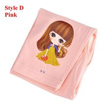 Girls Leggings Cotton Cartoon Children Summer Pants For Girls Clothing Elastic Skinny Kids Trousers