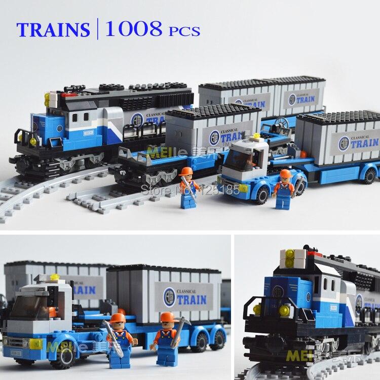 ausini поезд серии строительные блоки образовательные