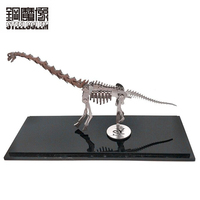 High quality 3D Metal Model Wan Dragon Finished Product No Assembly Adult Kids Education Toys Collection Home Furnishing Desktop