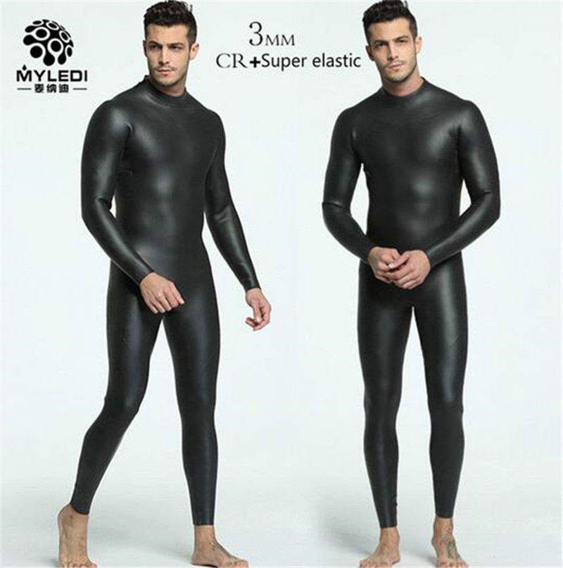 MYLE GEND 3mm CR + Ultra Élastique Plongée Surf Combinaison Hommes Full Body Chasse Sous-Marine Humide Costume Pour Triathlon Kitesurf salopette