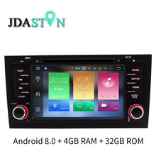 JDASTON In dash Android 8 0 font b Car b font DVD Player For AUDI A6