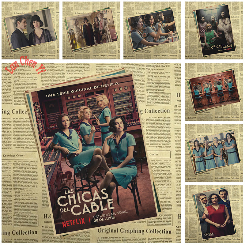 Cable Girls TV play Kraft Paper Poster Office Gift Room Dining Home Decor wall sticker Design