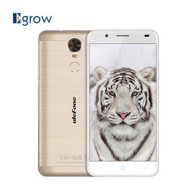 Ulefone Tiger MTK6737 Quad Core 5.5 Inch Cell Phone Android 6.0 Unlock Mobile Phone 2G RAM 16G ROM 4G Smartphone