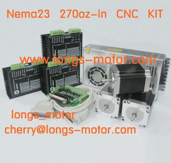 3axis nema23 stepper motor 272oz in 3 0a 4leads stepper for 3 axis nema 23 stepper motor driver controller cnc kit