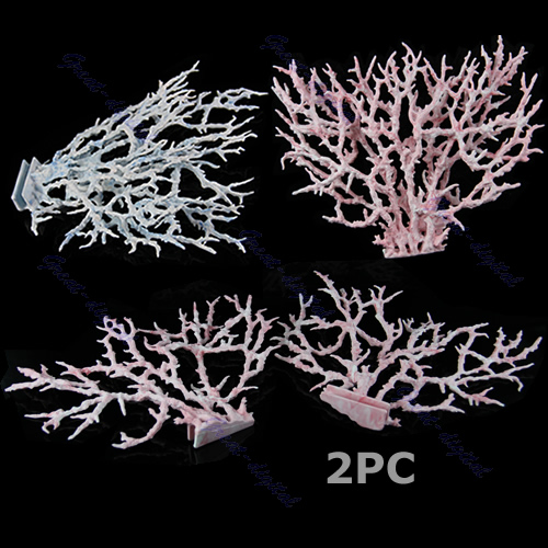 CoöPeratieve M65 Daling 2 Stks/set Reef Coral Decoratie Ornamenten Nieuwe Aquarium Faux Kunstmatige Aquarium Accessoire Blauw Rijk Aan PoëTische En Picturale Pracht