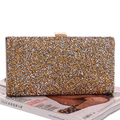 One Side Rhinestones Silver/Gold/Black  Clutches Bags Women Messenger Chain Shoulder Bags For Wedding Party Evening BagsYM1042